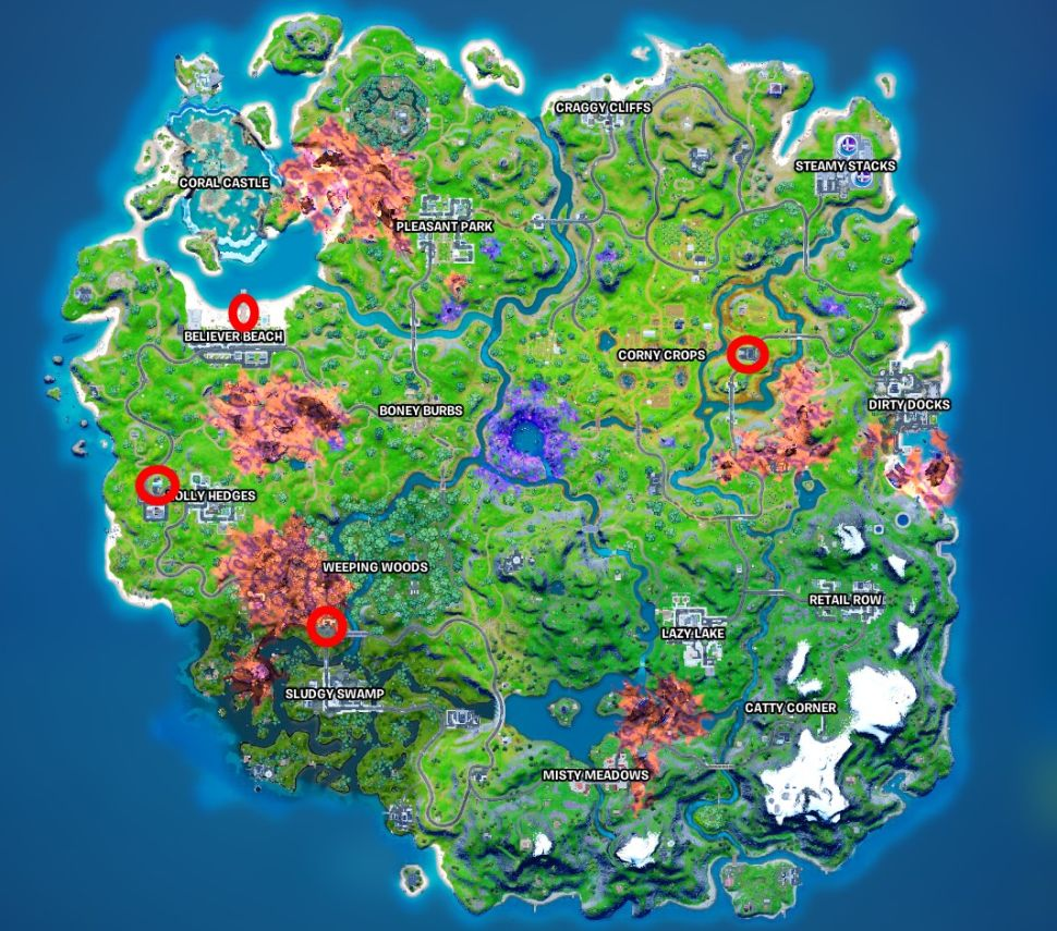Search an Ice Machine Locations Fortnite