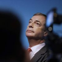 FILE - In this Friday, Nov. 22, 2019 file photo, Nigel Farage, Leader of Britain