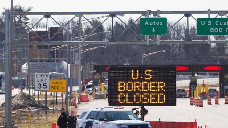 us open border to canada and mexico